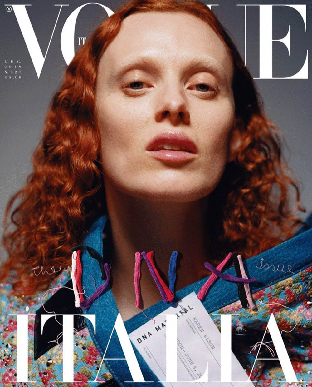 Karen Elson covers Vogue Italia July 2019 by Harley Weir
