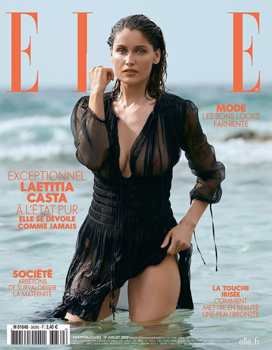 Laetitia Casta covers Elle France July 19th, 2019 by Blair Getz Mezibov