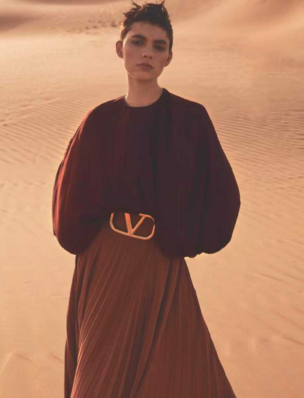 Ninouk Akkerman by Stefano Galuzzi for Harper's Bazaar Russia July 2019