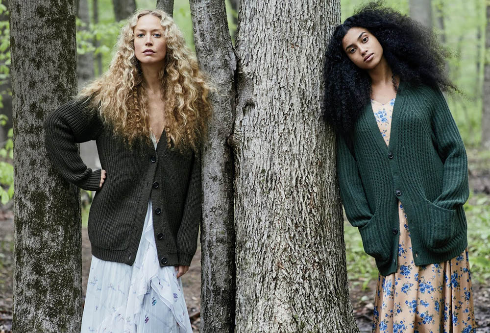 Raquel Zimmermann and Imaan Hammam by Ethan James Green for Vogue US July 2019