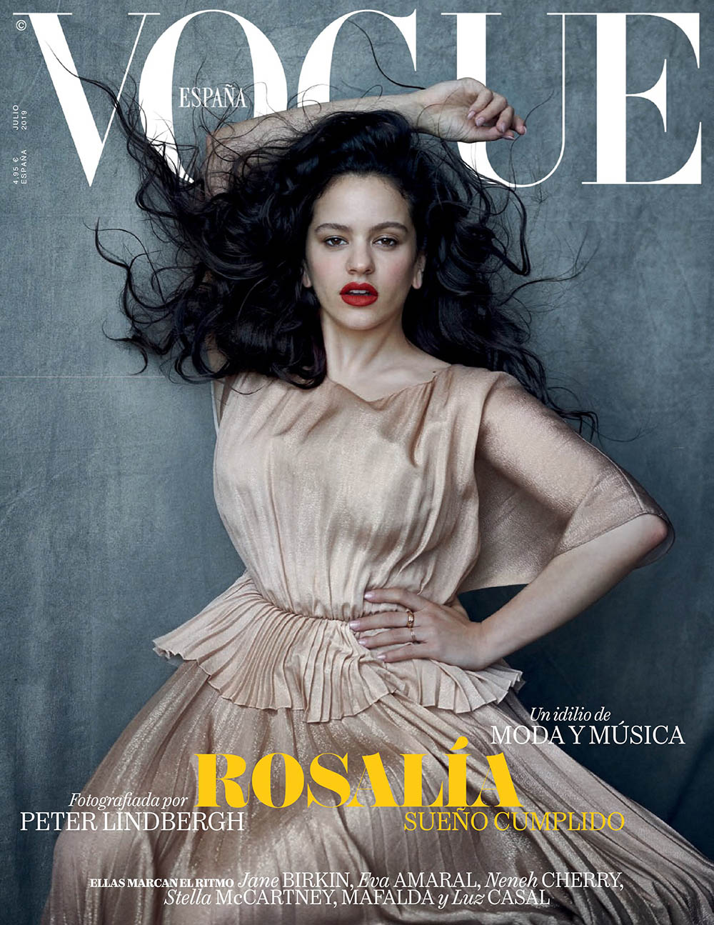 Rosalía covers Vogue Spain July 2019 by Peter Lindbergh