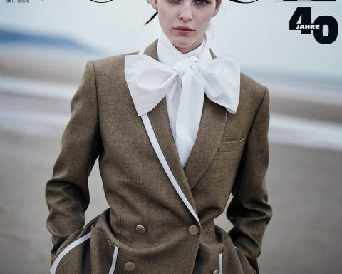 Vittoria Ceretti, Birgit Kos and Luna Bijl cover Vogue Germany July 2019 by Peter Lindbergh