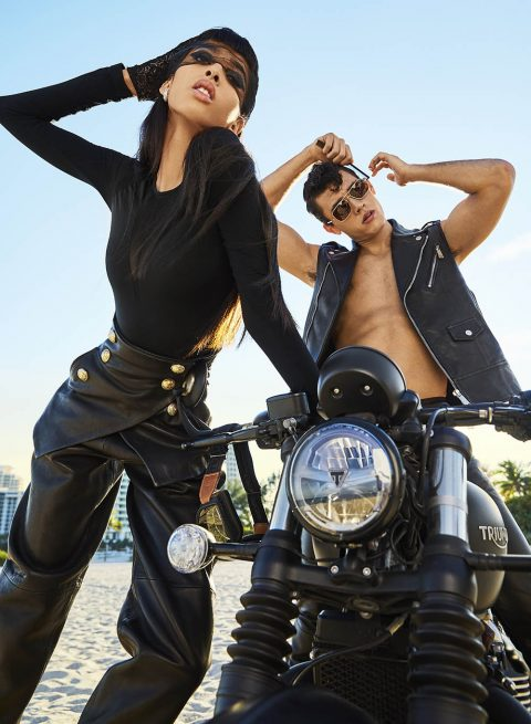 Yasmin Wijnaldum and Xavier Serrano by Max Papendieck for V Magazine Summer 2019