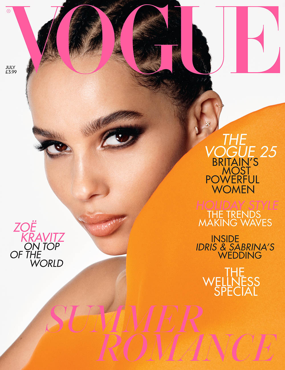 Zoë Kravitz covers British Vogue July 2019 by Steven Meisel