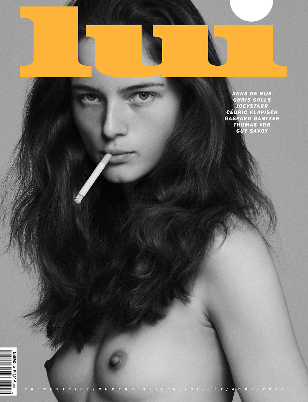 Anna de Rijk covers Lui Magazine Summer 2019 by Chris Colls
