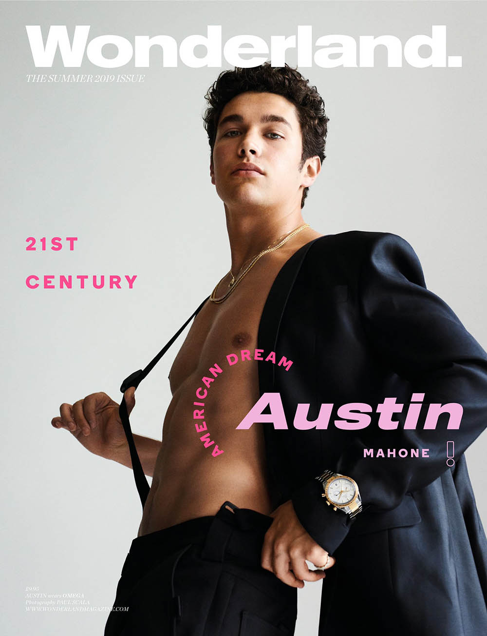 Austin Mahone covers Wonderland Magazine Summer 2019 by Paul Scala