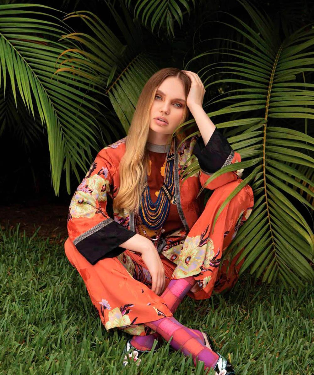 Elena Matei by Jorge Duva for Harper's Bazaar Mexico & Latin America August 2019
