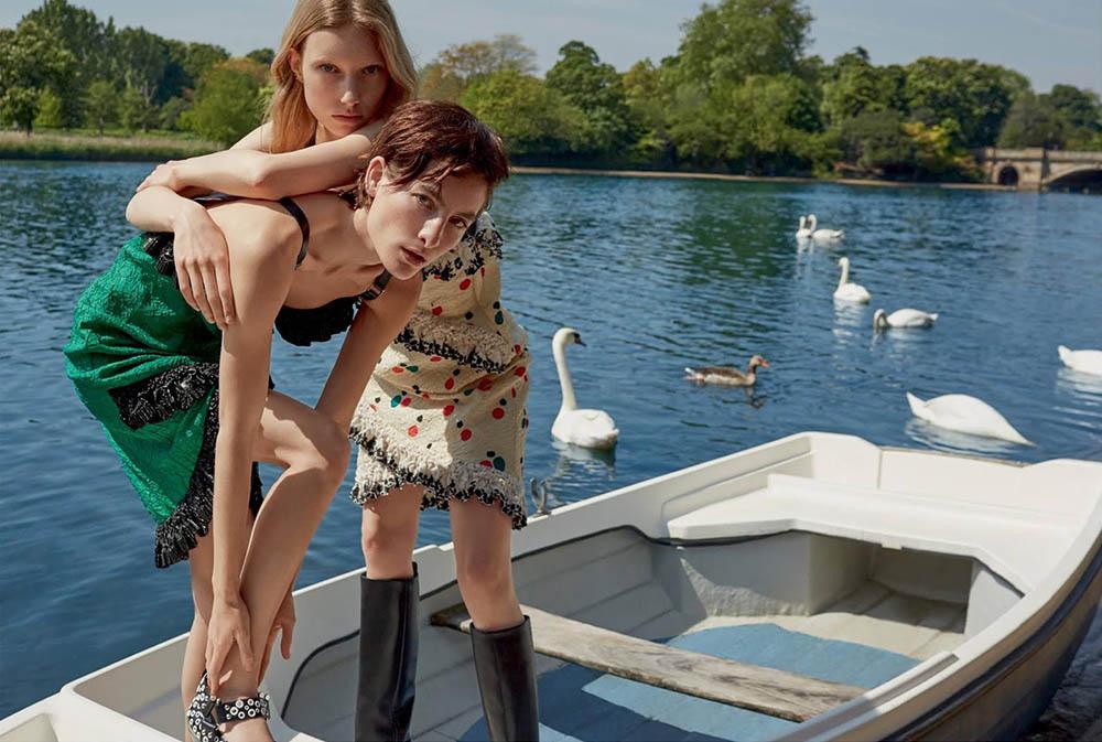 Mélodie Vaxelaire, Heather Kemesky and Demy de Vries cover Harper's Bazaar UK August 2019 by Agata Pospieszynska