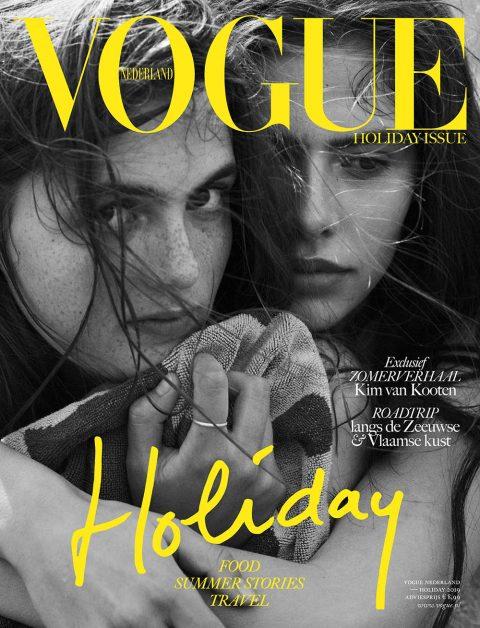 Jools Verschuuren and Jip Ter Laak cover Vogue Netherlands ''Holiday Issue'' 2019 by Paul Bellaart