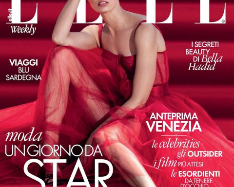 Karolina Kurkova covers Elle Italia August 19th, 2019 by Gilles Bensimon