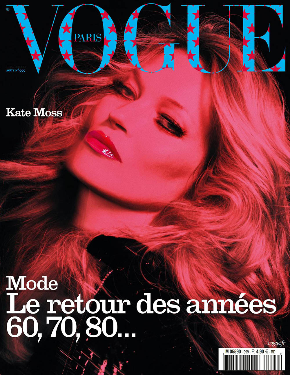 Kate Moss covers Vogue Paris August 2019 by Inez and Vinoodh