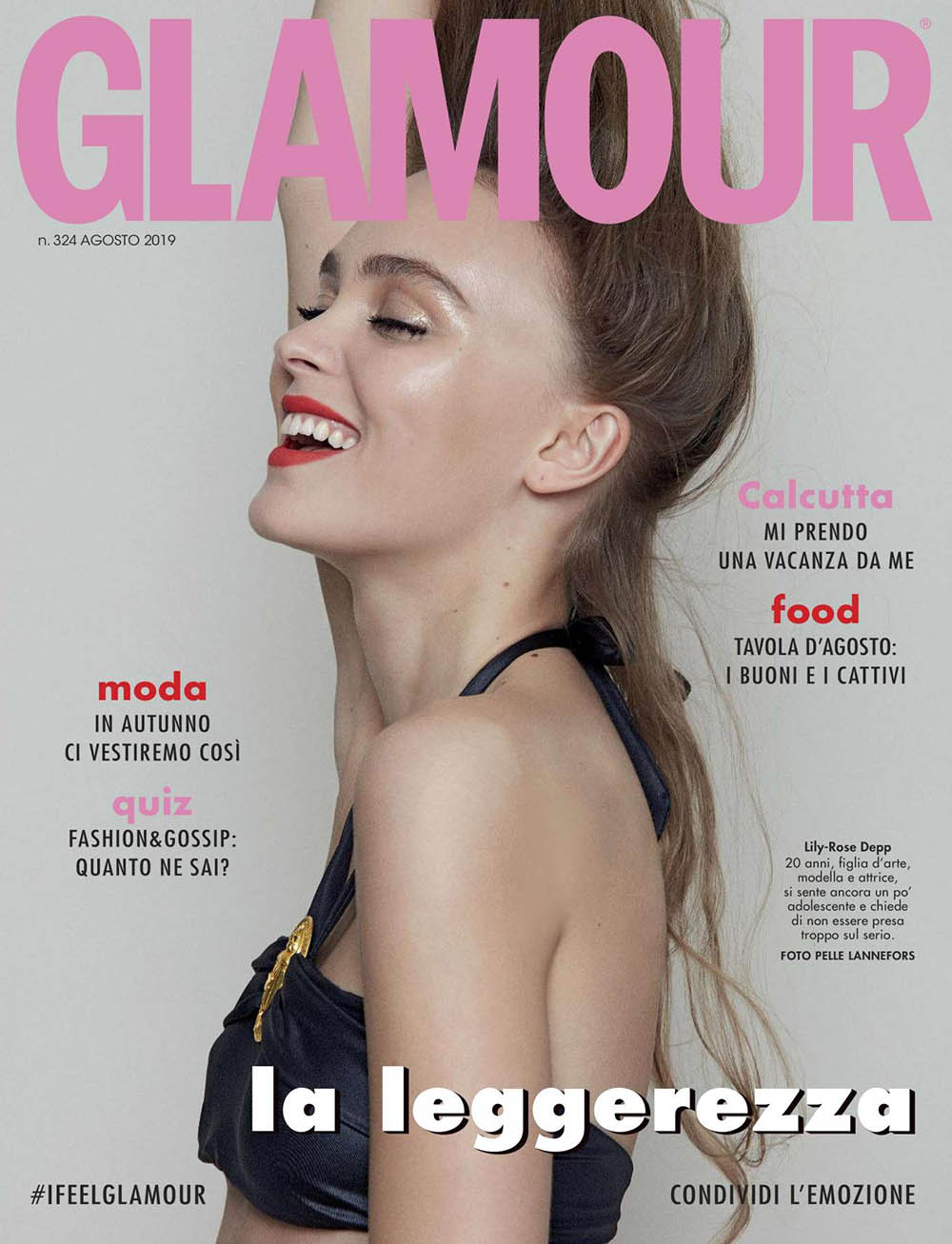 Lily-Rose Depp covers Glamour Italia August 2019 by Pelle Lannefors