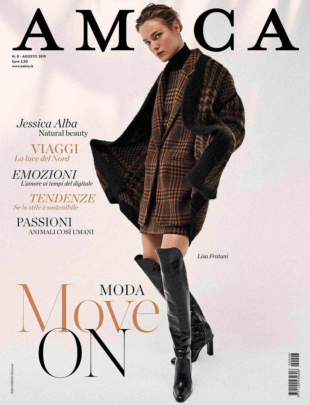 Lisa Louis Fratani covers Amica Magazine August 2019 by Sonia Szóstak