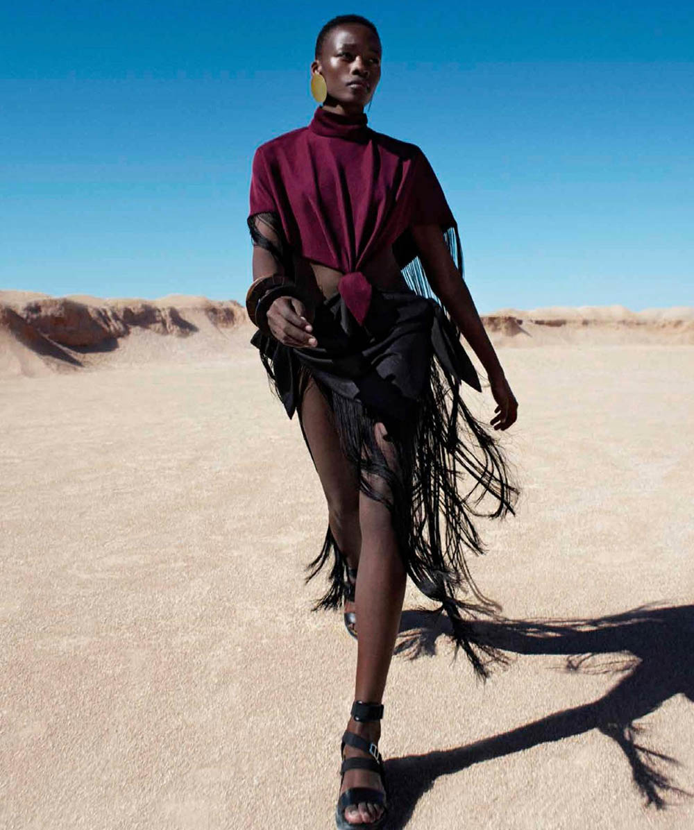 Michele Opiyo by Javier López for Harper's Bazaar Mexico & Latin America August 2019
