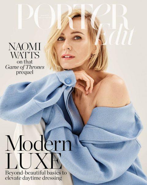 Naomi Watts covers Porter Edit August 2nd, 2019 by Jason Kibbler