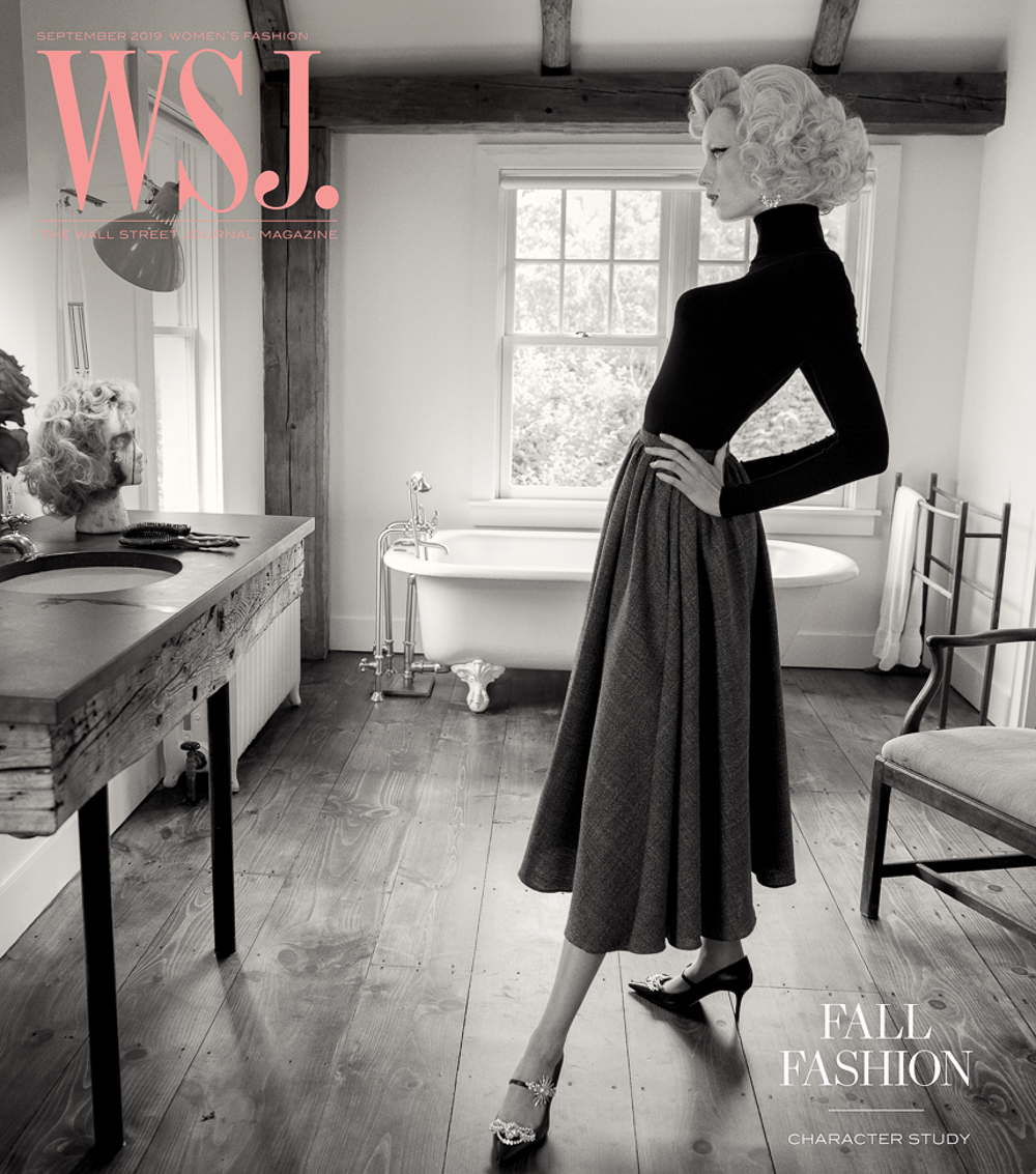 Rianne van Rompaey covers WSJ. Magazine September 2019 by Inez and Vinoodh