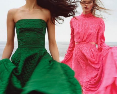 Saffron Vadher and Sara Eirud by Thurstan Redding for WSJ. Magazine August 2019