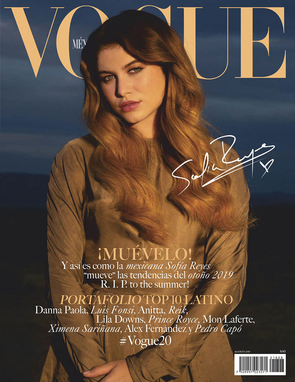Sofía Reyes covers Vogue Mexico August 2019 by Tania Franco Klein