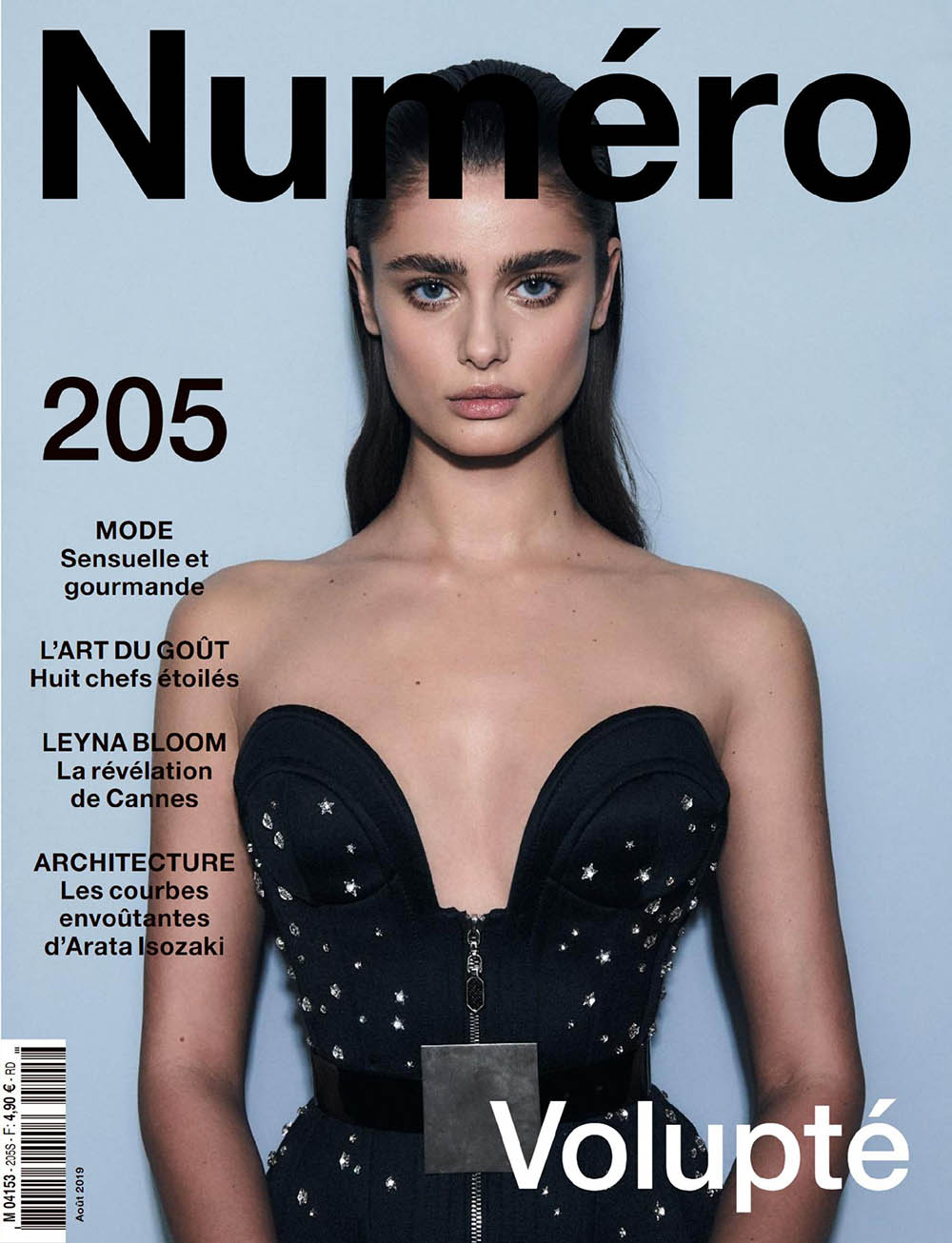 Taylor Hill covers Numéro August 2019 by Hugh Lippe