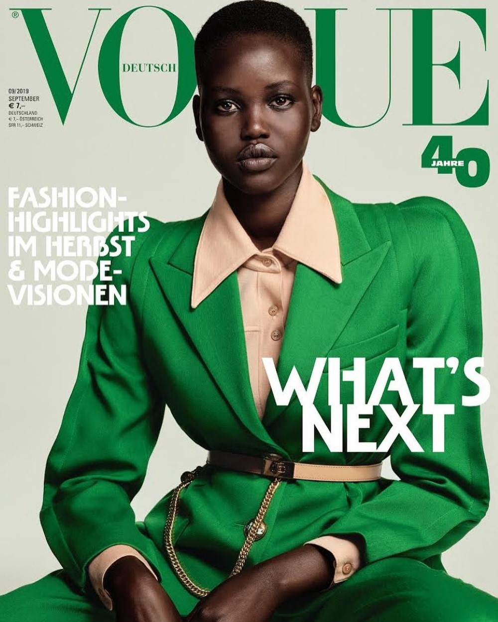 Adut Akech and Rebecca Leigh Longendyke cover Vogue Germany September 2019 by Chris Colls