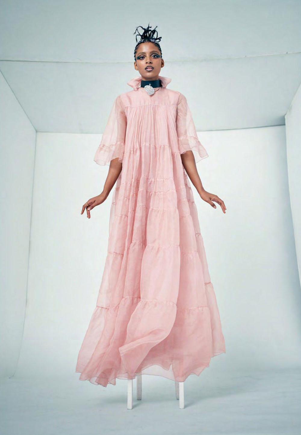 Alécia Morais by Karen Collins for Elle UK September 2019