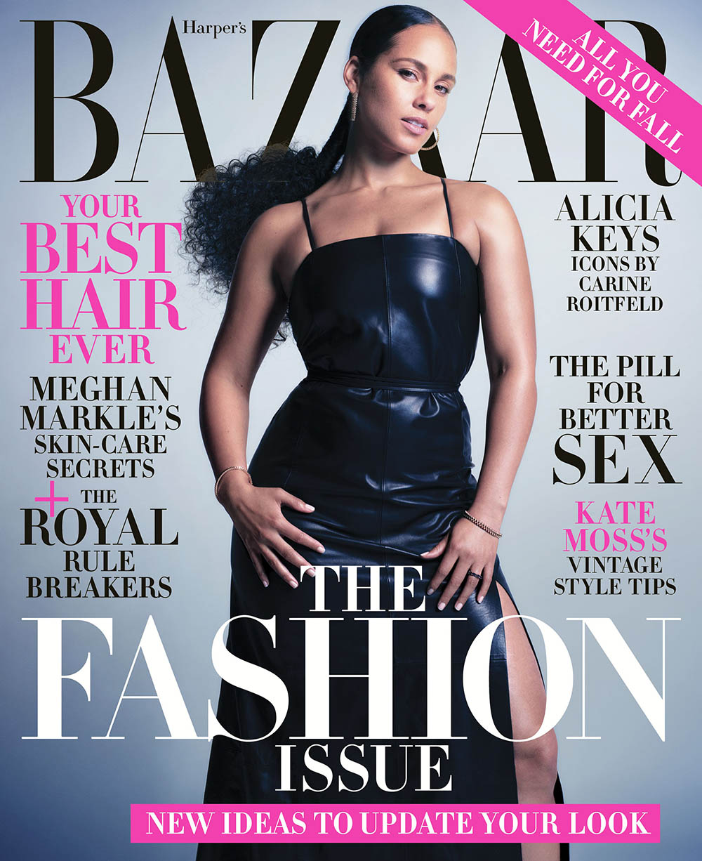 Alicia Keys and Christy Turlington cover Harper's Bazaar US September 2019 by Mario Sorrenti