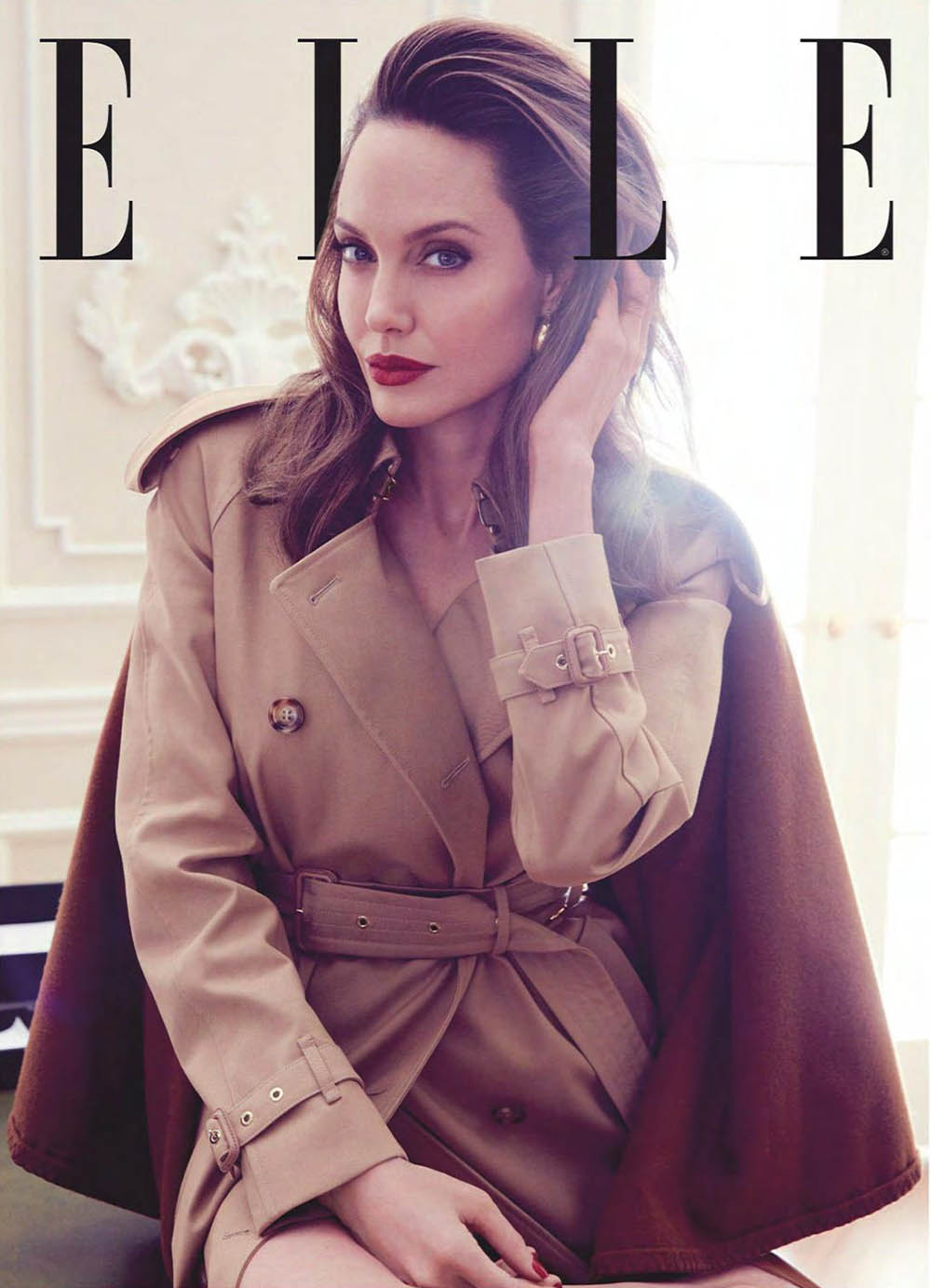 Angelina Jolie covers Elle UK September 2019 by Alexi Lubomirski
