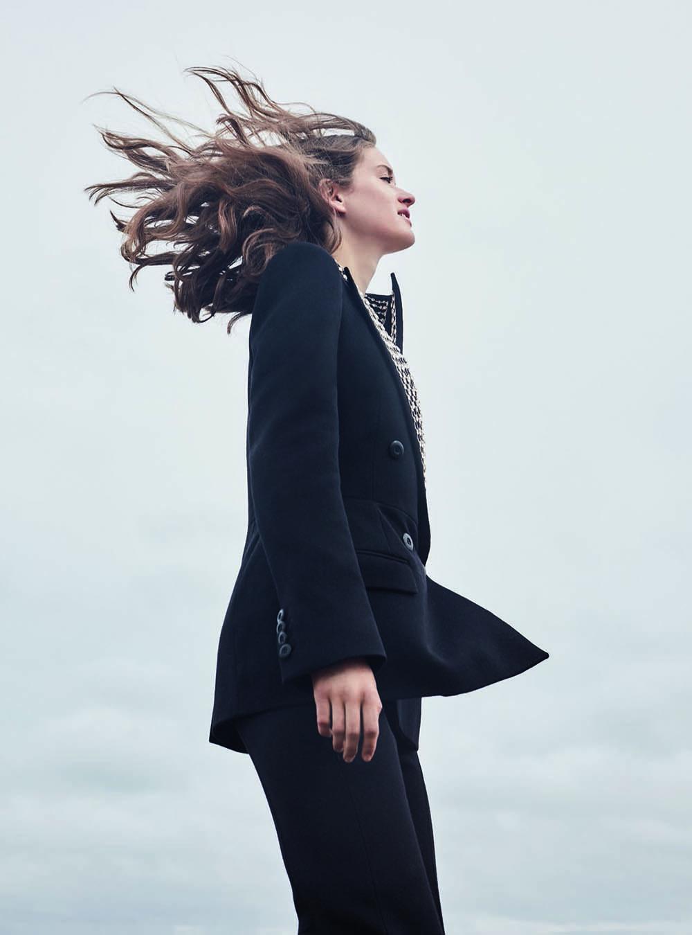 Femke Huijzer by Agata Pospieszynska for Harper's Bazaar UK September 2019