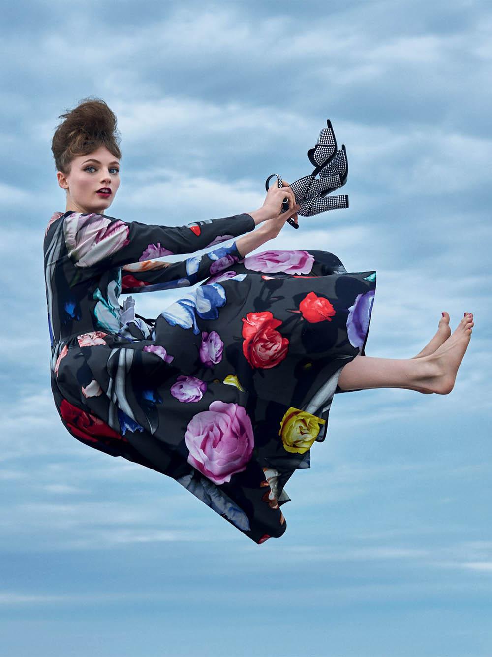 Fran Summers by Arthur Elgort for British Vogue September 2019