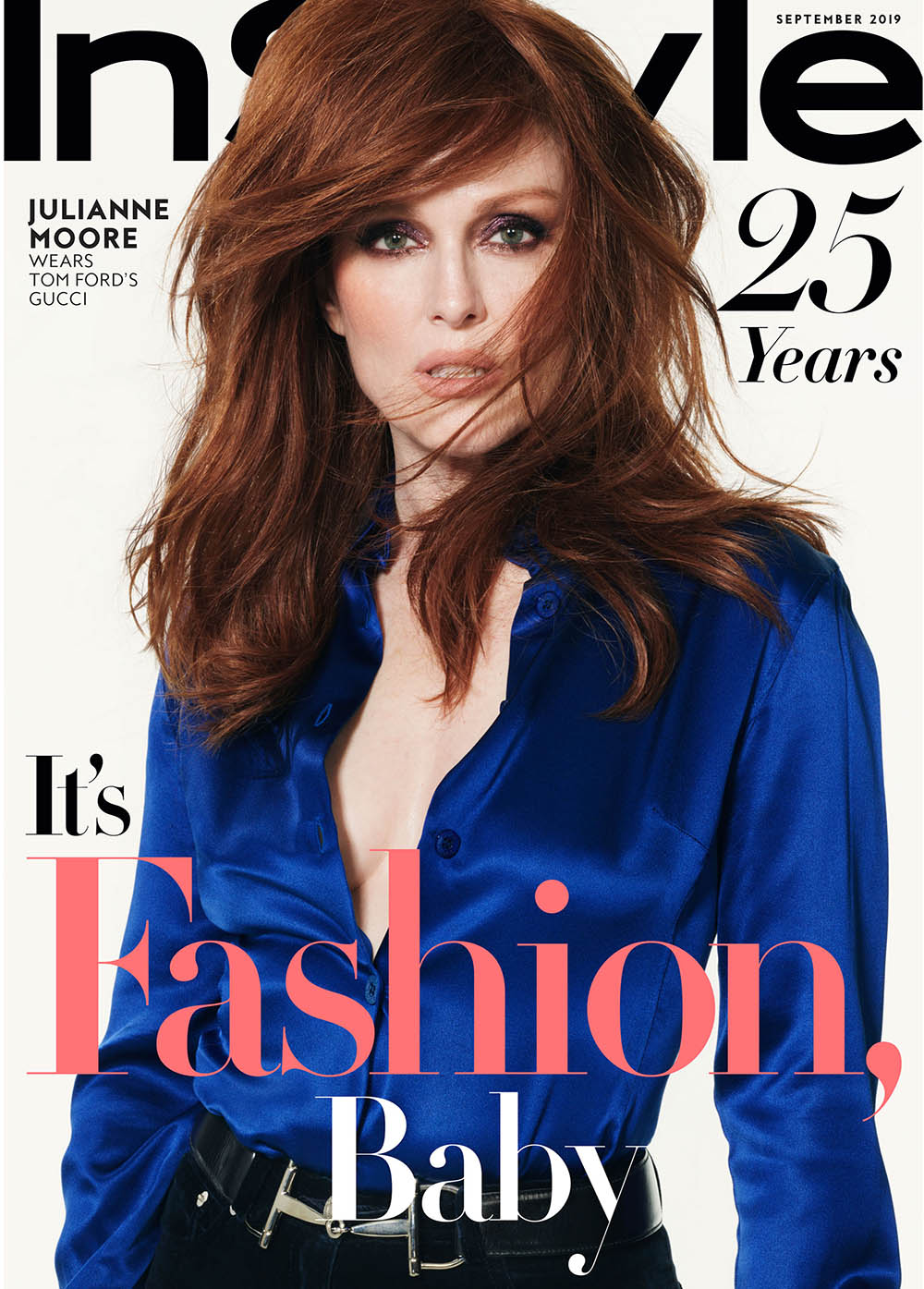 Julianne Moore covers InStyle US September 2019 by Phil Poynter