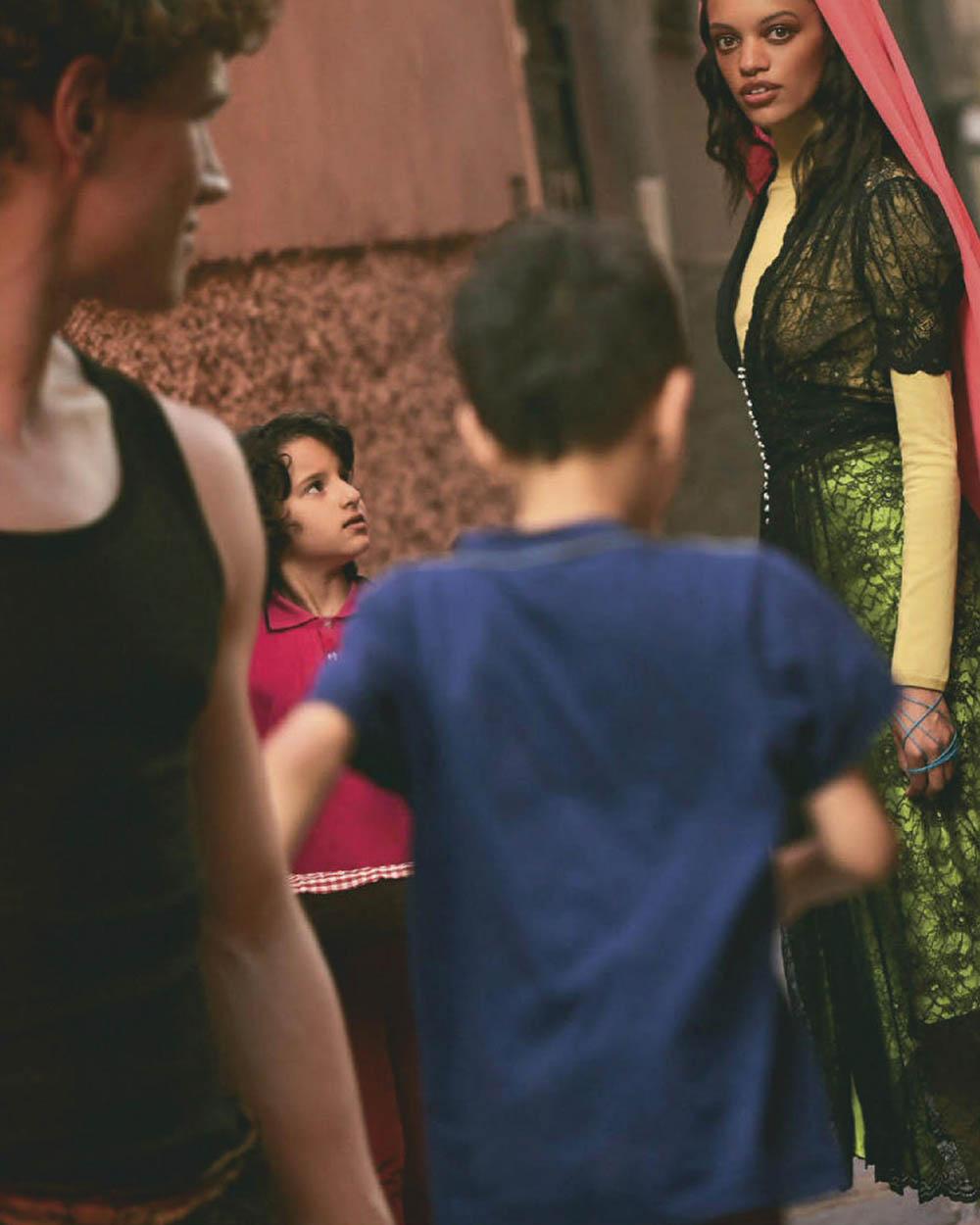 Kukua Williams and Timo Baumann by Daniel Clavero for Vogue Mexico & Latin America September 2019