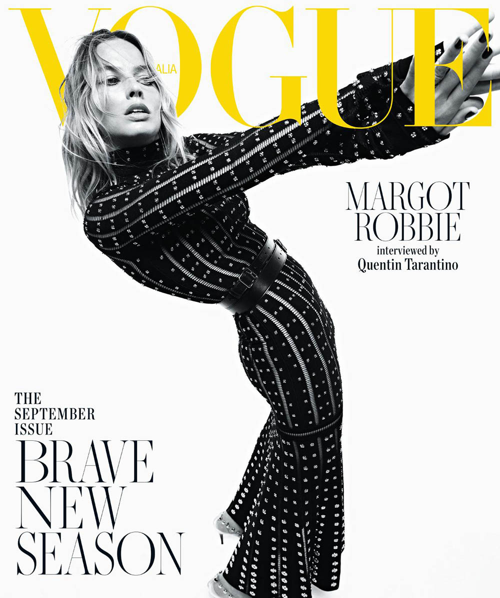 Margot Robbie covers Vogue Australia September 2019 by Mario Sorrenti