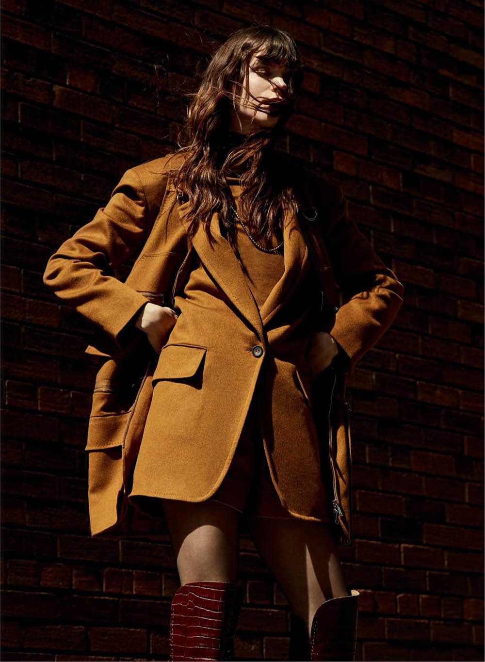 Meghan Collison by Brent Goldsmith for Elle Canada September 2019