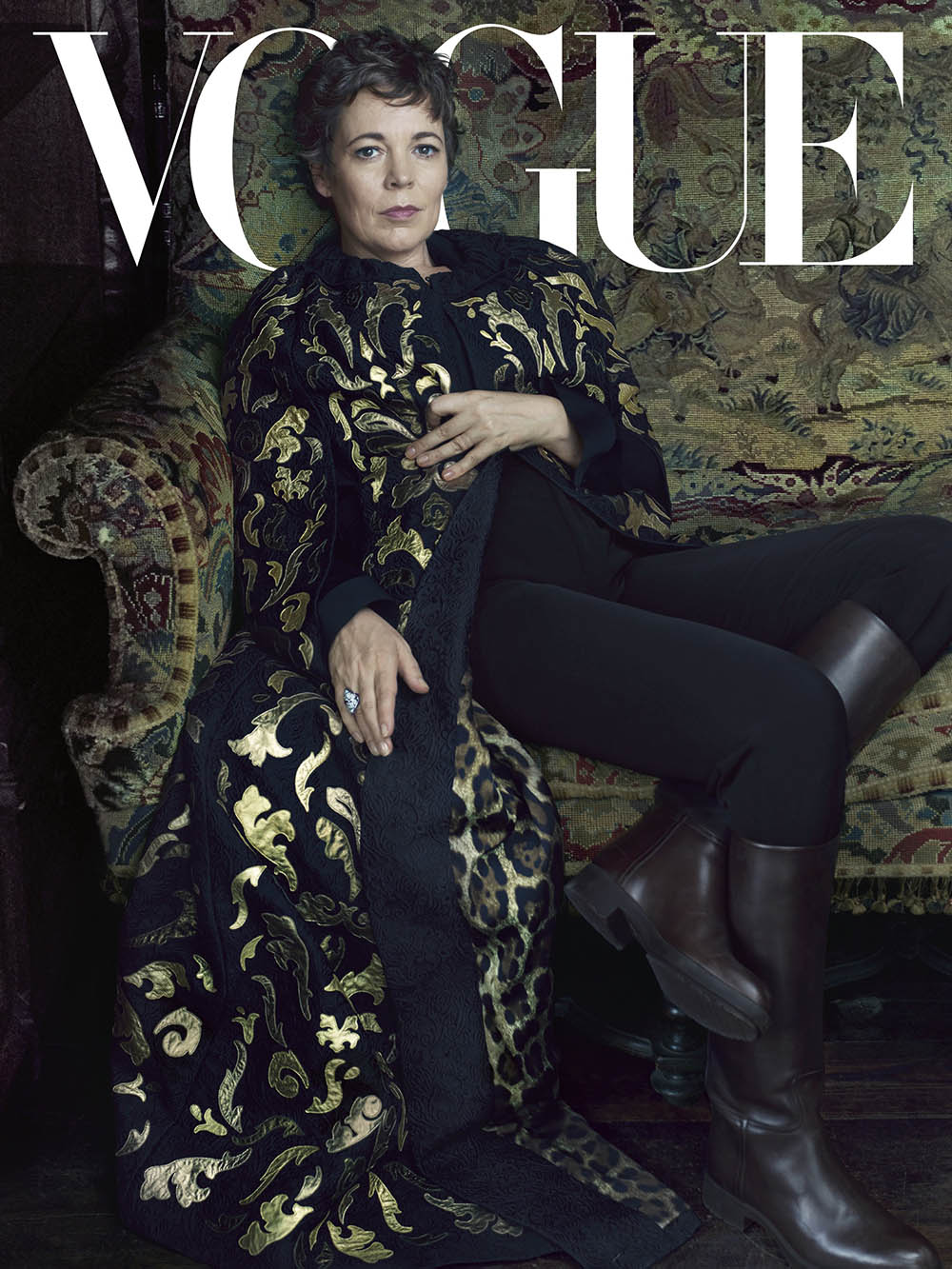 Olivia Colman covers Vogue US October 2019 by Annie Leibovitz