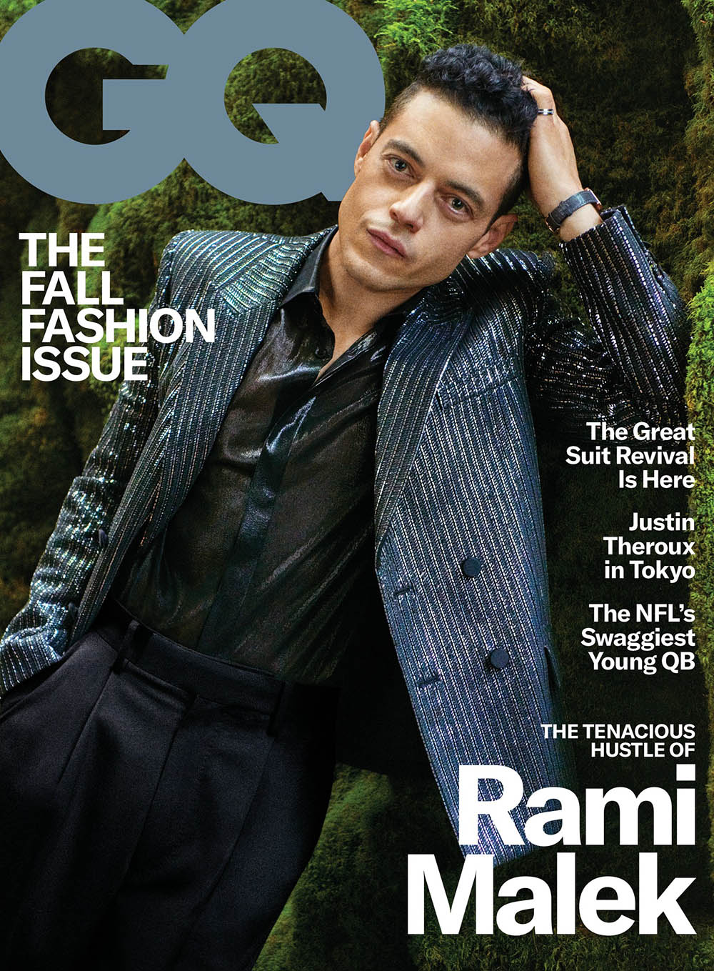 Rami Malek covers GQ USA September 2019 by Ryan McGinley