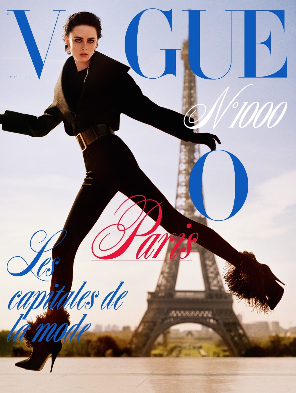 Rianne van Rompaey on four covers of Vogue Paris September 2019