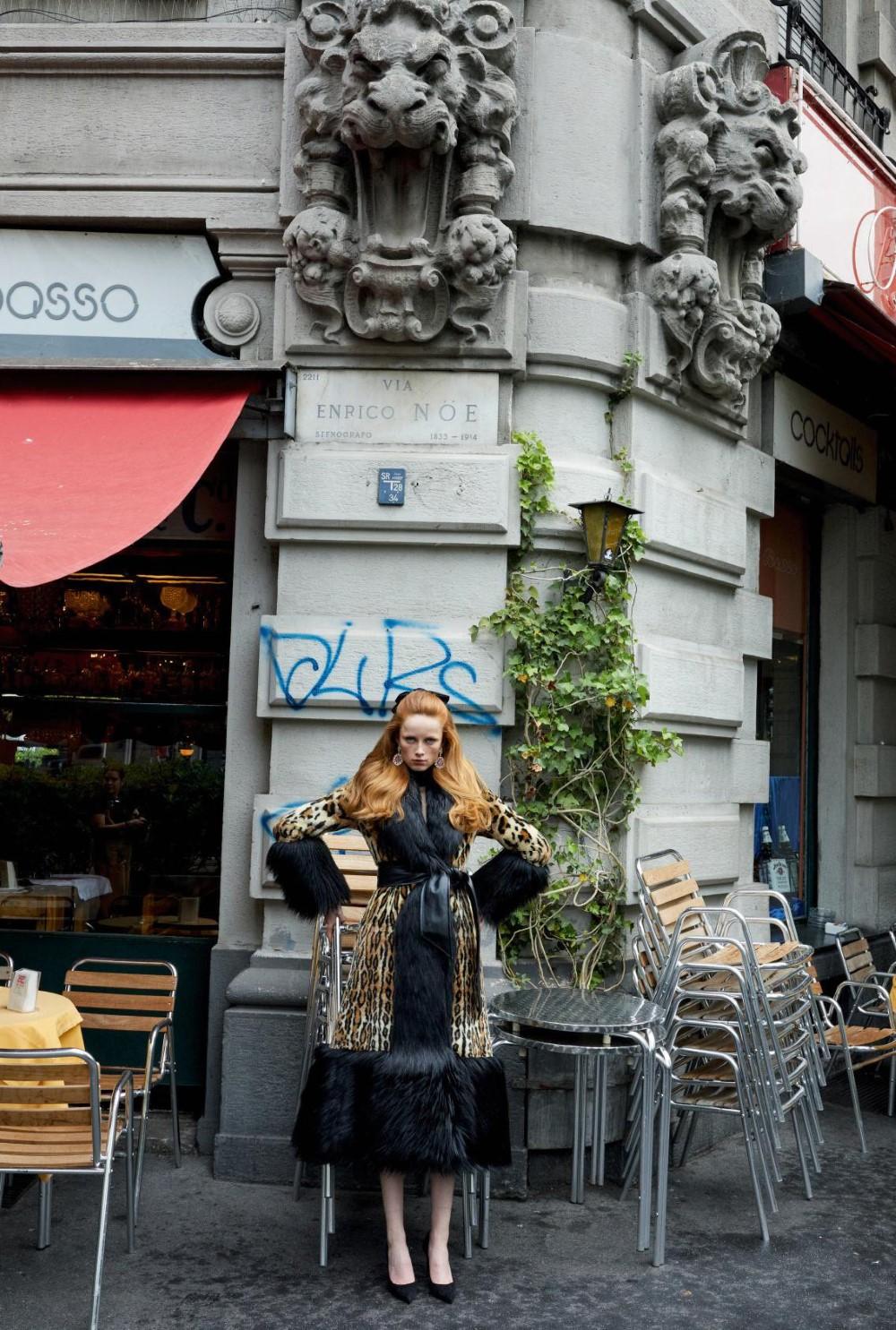 Rianne van Rompaey on four covers of Vogue Paris September 2019