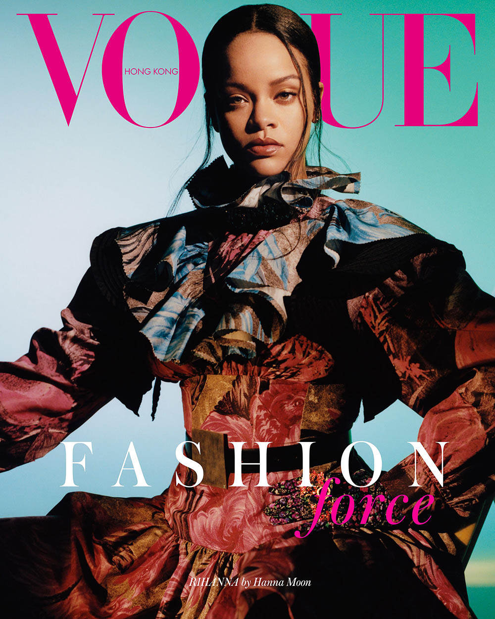 Rihanna covers Vogue Hong Kong September 2019 by Hanna Moon