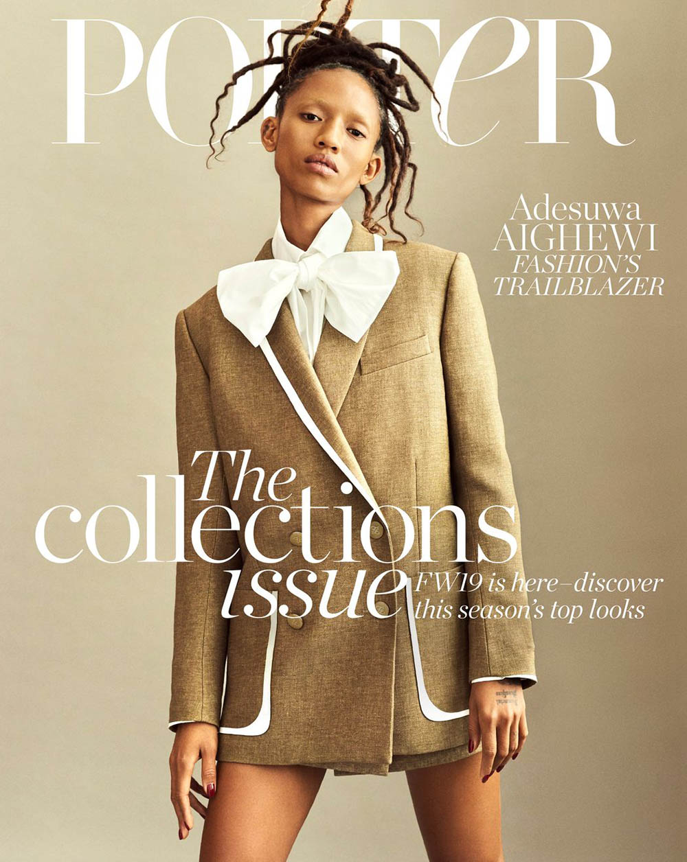 Adesuwa Aighewi covers Porter Magazine October 11th, 2019 by Philip Messmann