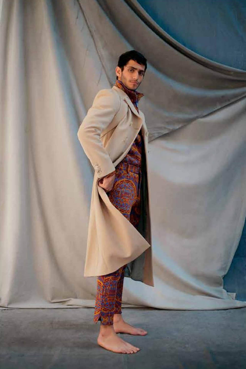 Ahmad Kontar covers L'Officiel Hommes Levant October November 2019 by Jules Faure