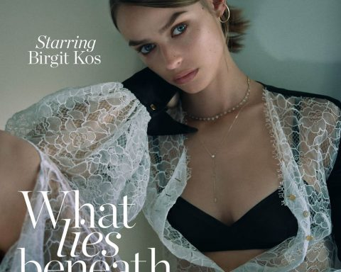 Birgit Kos covers Porter Magazine October 25th, 2019 by Stas Komarovski