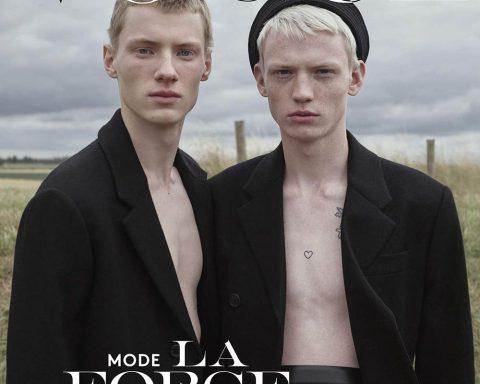 Braien Vaiksaar and Stas Zienkiewicz cover Vogue Hommes Paris Fall Winter 2019 by Willy Vanderperre