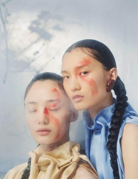 Chunjie Liu and Liu Huan by Ruo Bing Li for Harper's Bazaar China October 2019