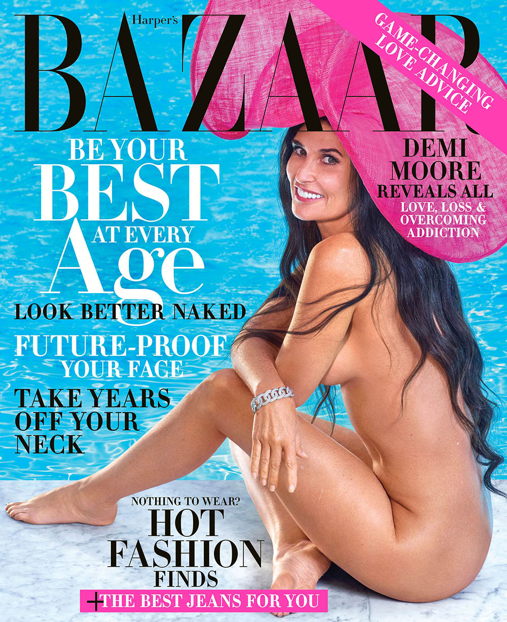 Demi Moore covers Harper's Bazaar US October 2019 by Mariano Vivanco