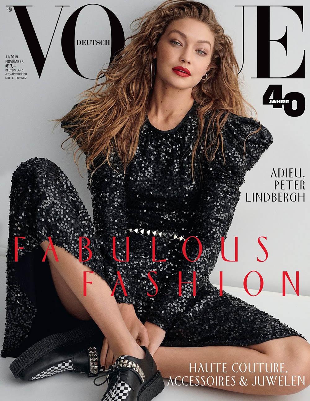 Gigi Hadid covers Vogue Germany November 2019 by Giampaolo Sgura
