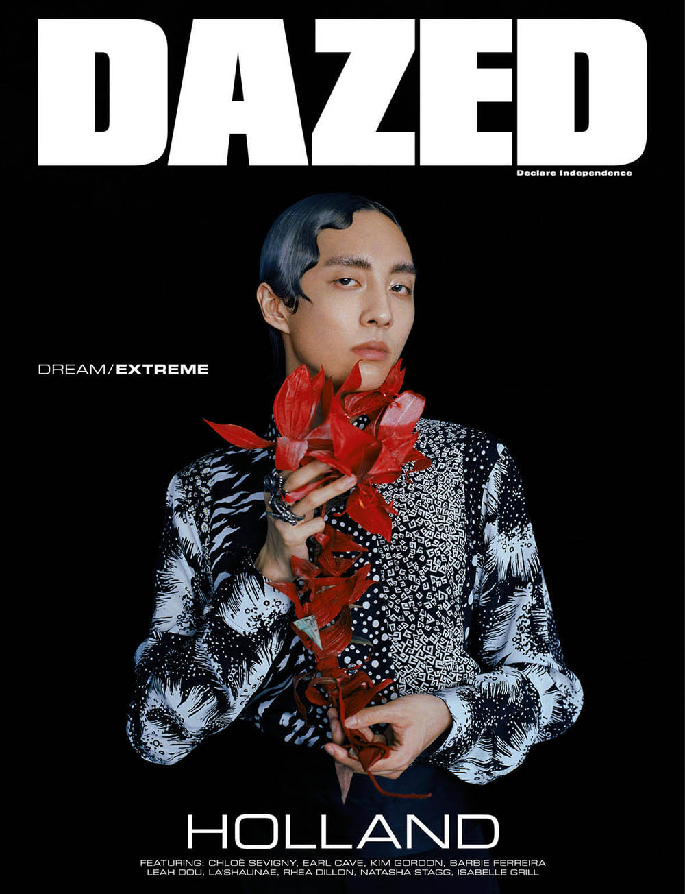 Holland covers Dazed Magazine Autumn Winter 2019 by Leslie Zhang