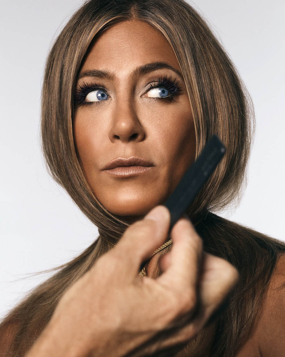 Jennifer Aniston covers InStyle US October 2019 by Michael Thompson
