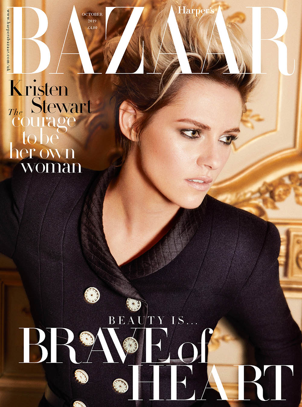 Kristen Stewart covers Harper's Bazaar UK October 2019 by Alexi Lubomirski