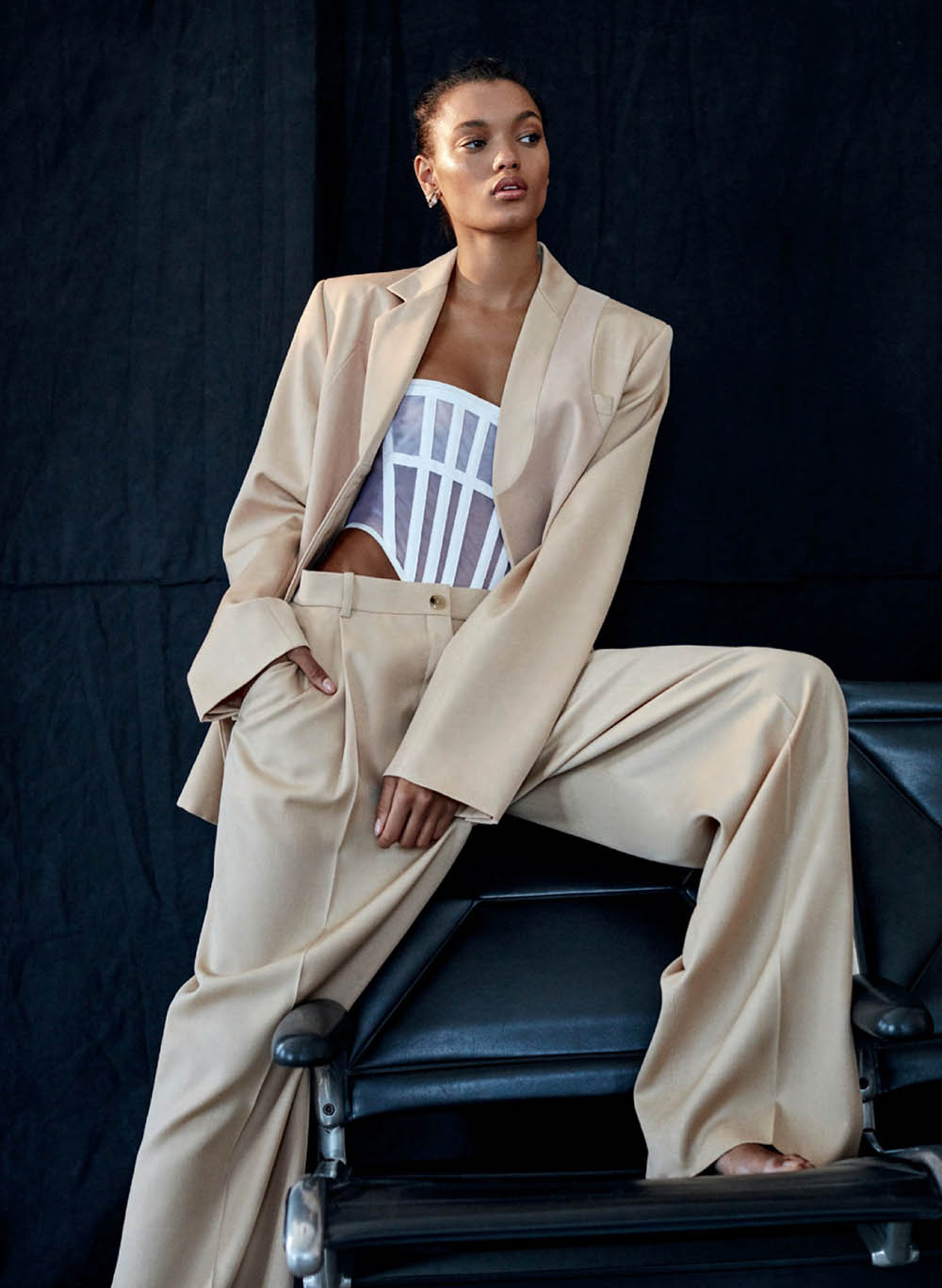 Lameka Fox by D. Picard for Elle Canada October 2019