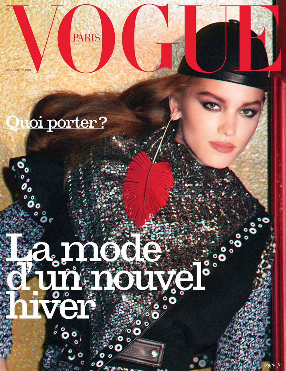 Laurijn Bijnen covers Vogue Paris October 2019 by David Sims